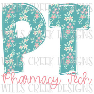 PT Pharmacy Doodle Digital Download