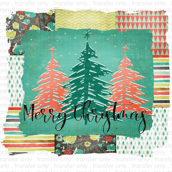 Patchwork Christmas Sublimation Transfer
