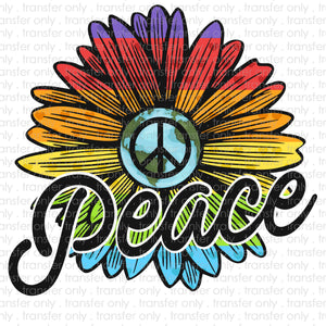 Peace Flower Sublimation Transfer