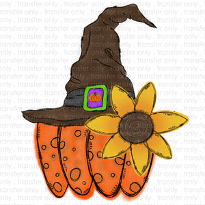 Pumpkin Sunflower Hat Sublimation Transfer
