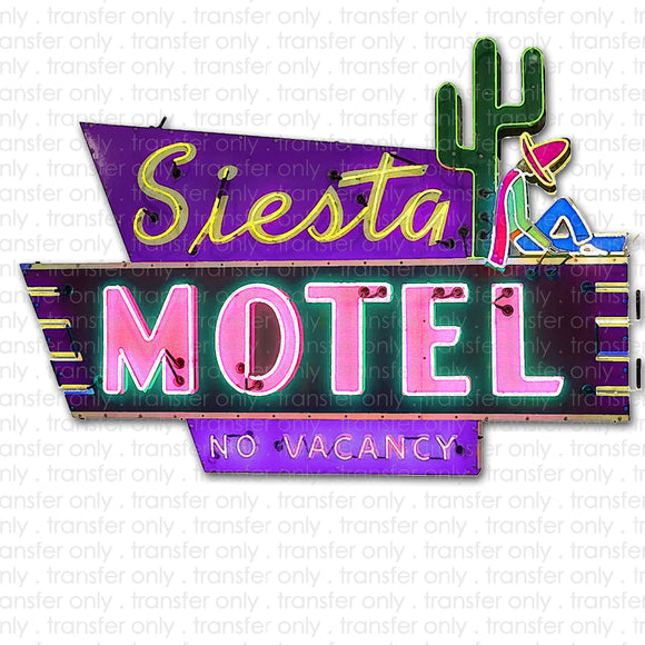 Siesta Hotel Sublimation Transfer