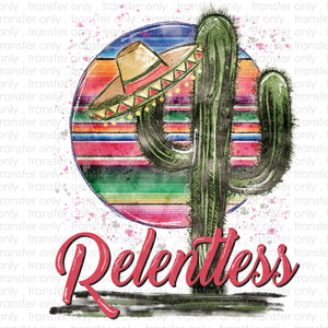 Relentless Cactus Sublimation Transfer