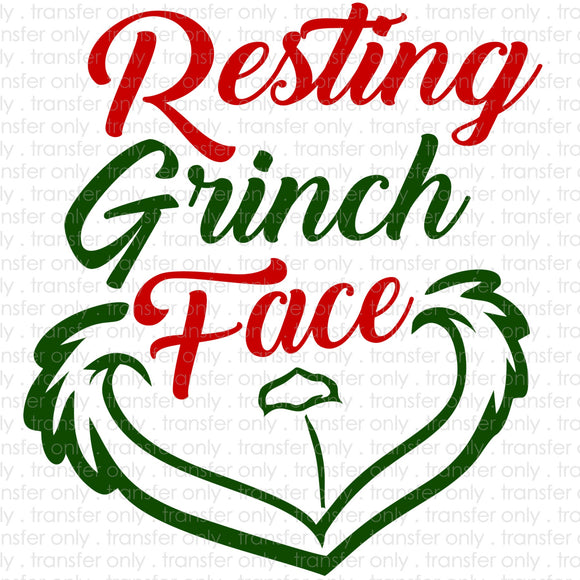 Resting Grinch Face Sublimation Transfer