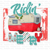 Riddin' Merry Sublimation Transfer