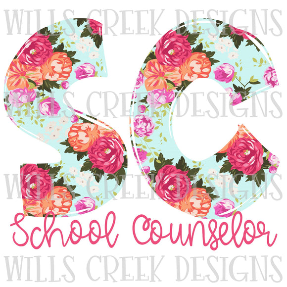 School Counselor Doodle Sublimation Transfer