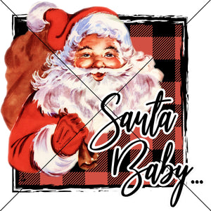 Santa Baby Sublimation Transfer