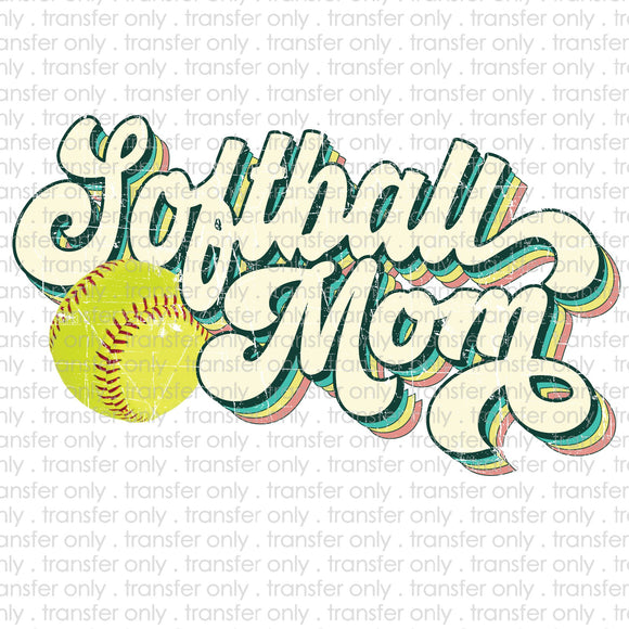 Softball Mom Retro Sublimation Transfer