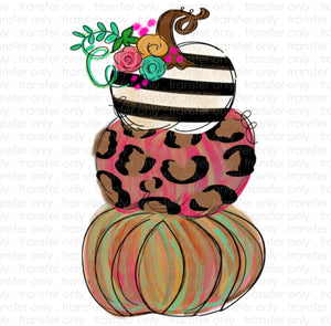 Pumpkin Stack Painted Sublimation Transfer