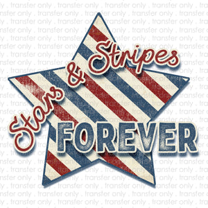 Stars and Stripes Forever Sublimation Transfer
