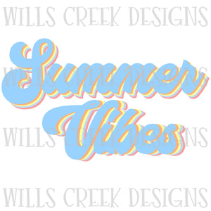 Summer Vibes Retro Sublimation Transfer