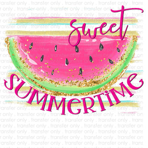 Sweet Summertime Watermelon Sublimation Transfer