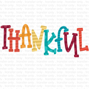 Thankful Doodle Sublimation Transfer
