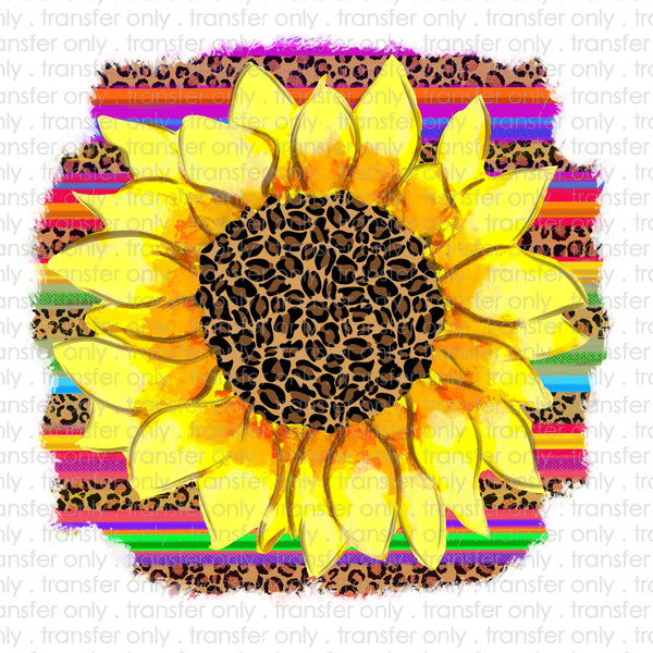 Serape Sunflower Sublimation Transfer