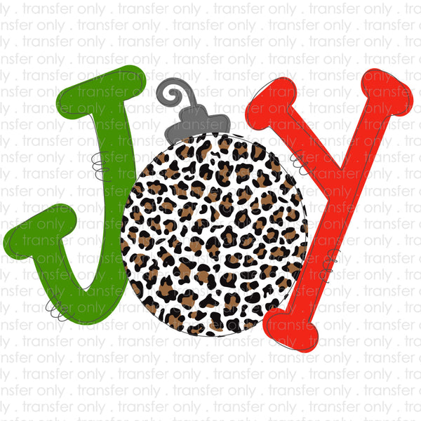 Joy Christmas Ornament Sublimation Transfer