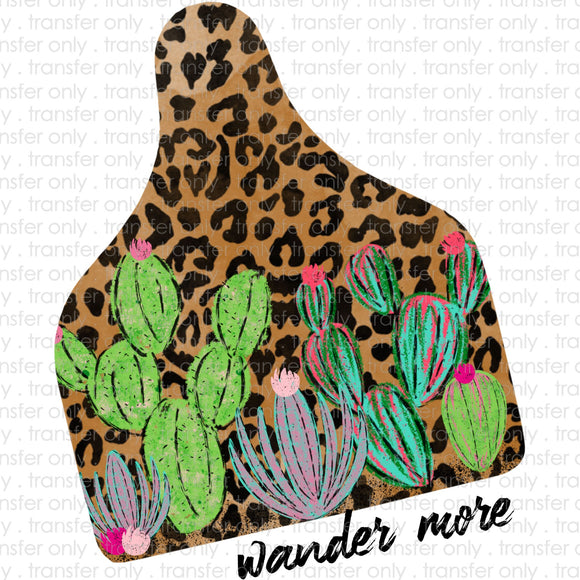 Wander Mom Ear Tag Sublimation Transfer
