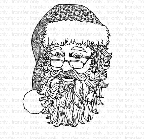 Zentangle Santa Sublimation Transfer