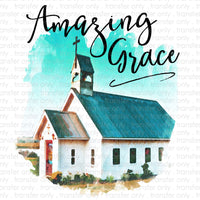 Amazing Grace Church Sublimation Transfer