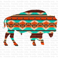 Aztec Buffalo Sublimation Transfer