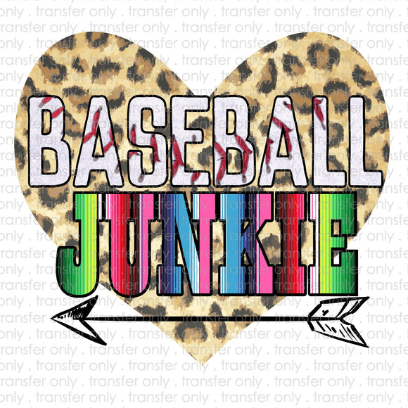 Baseball Junkie Sublimation Transfer
