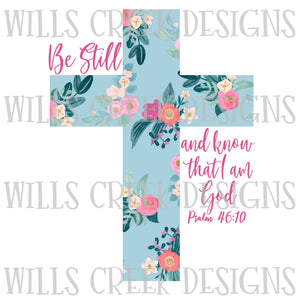 Be Still and Know Cross Digital Download