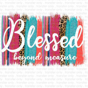 Blessed Brush Stroke Sublimation Transfer