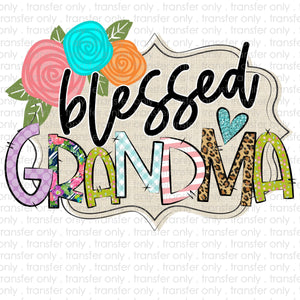 Blessed Grandma Sublimation Transfer