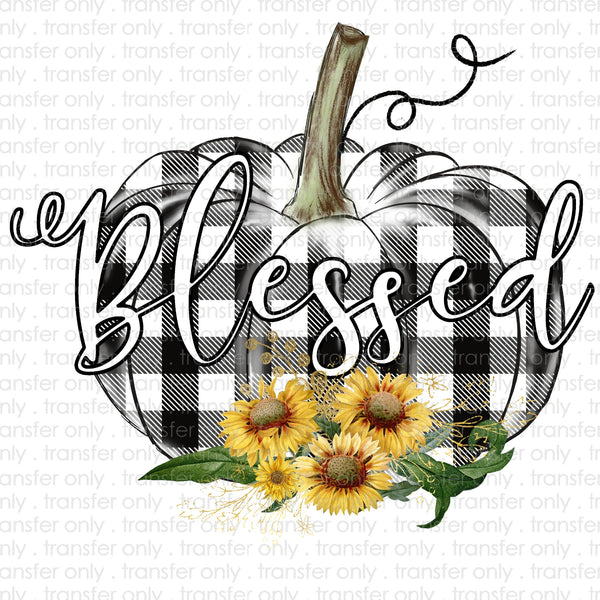 Blessed Plaid Pumpkin Sublimation Transfer