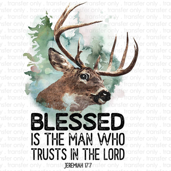 Blessed is the man who trust in the Lord Deer Sublimation Transfer