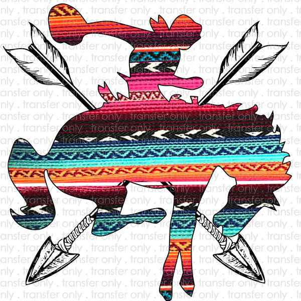 Serape Bronco Sublimation Transfer