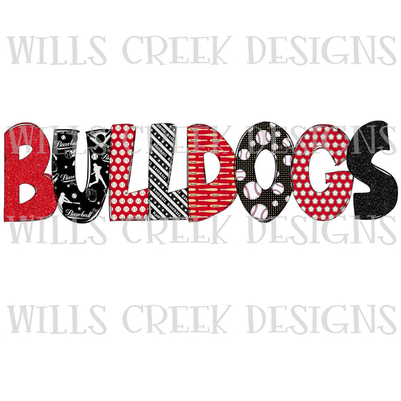 Bulldogs Doodle Digital Download