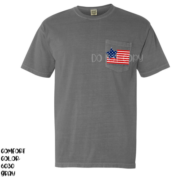 Star Flag Pocket Size Screen Print Transfers P71