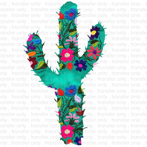 Embroidery Cactus Sublimation Transfer