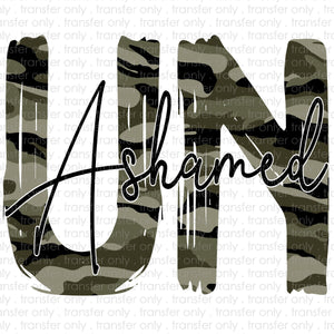 Camo Unashamed Sublimation Transfer