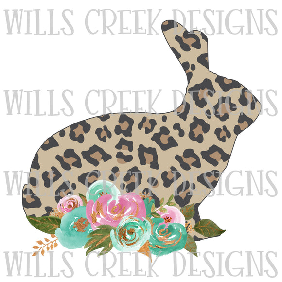 Easter Cheetah Rabbit Sublimation Transfer