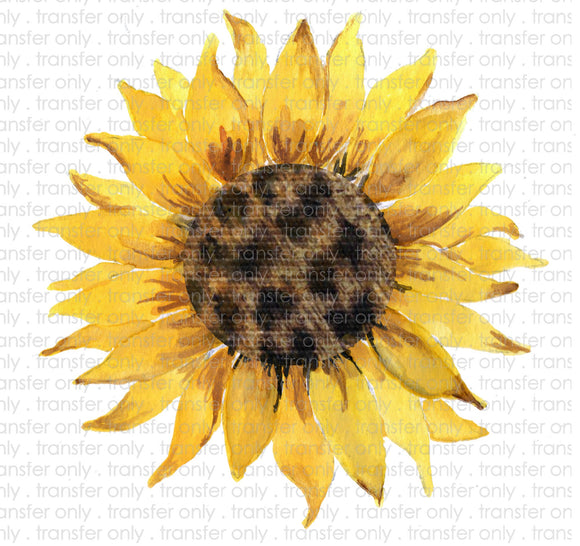 Cheetah Sunflower Heat Transfer Vinyl Transfer