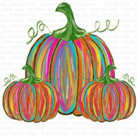 Colorful Pumpkins Sublimation Transfer