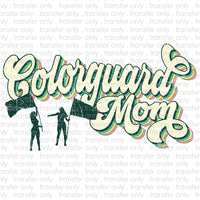 Colorguard Mom Retro Sublimation Transfer
