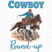 Cowboy Round Up Sublimation Transfer