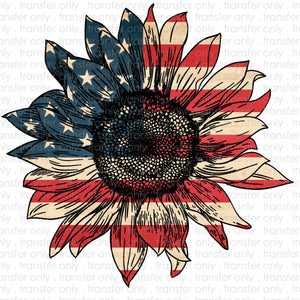 Flag Sunflower Heat Transfer Vinyl Transfer