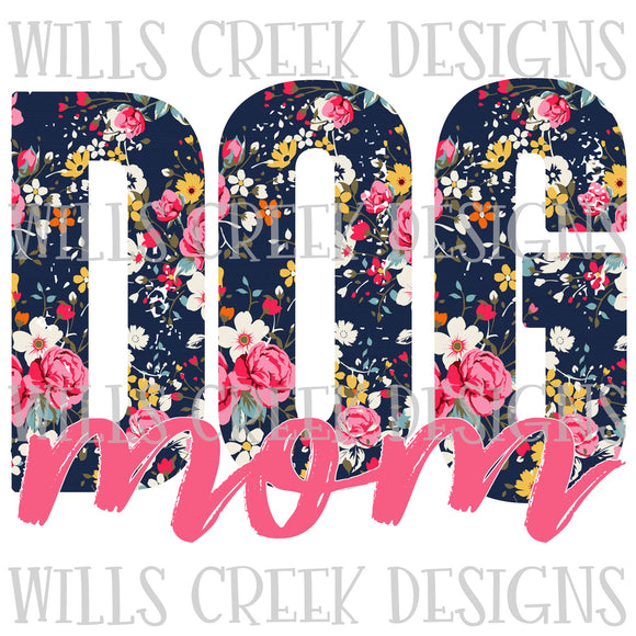 Dog Mom Floral Sublimation Transfer