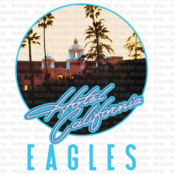 Hotel California Sublimation Transfer