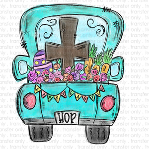 Easter Truck Sublimation Transfer