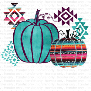 Aztec Pumpkins Sublimation Transfer