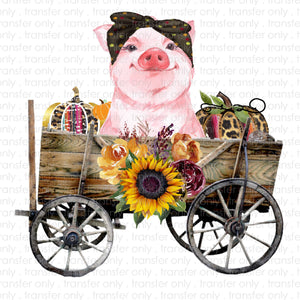 Pig Wagon Sublimation Transfer