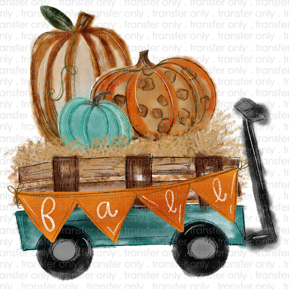 Fall Wagon Sublimation Transfer