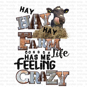 Hay Hay Farm Life Sublimation Transfer