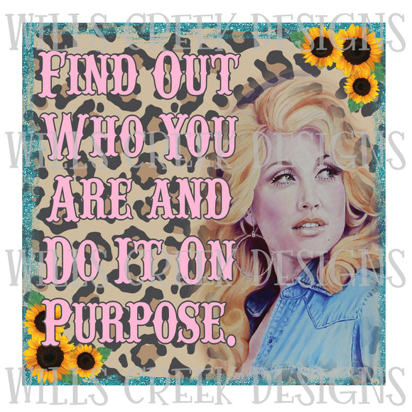 Find Out Who You Are and Do It On Purpose Digital Download