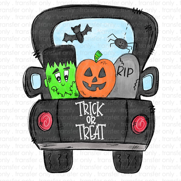 Trick or Treat Truck Sublimation Transfer
