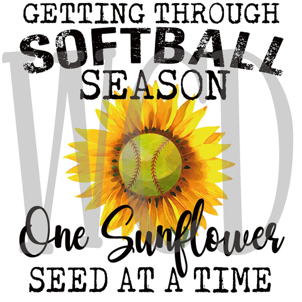 Getting Through Softball Season One Sunflower Seed at a Time Digital Download