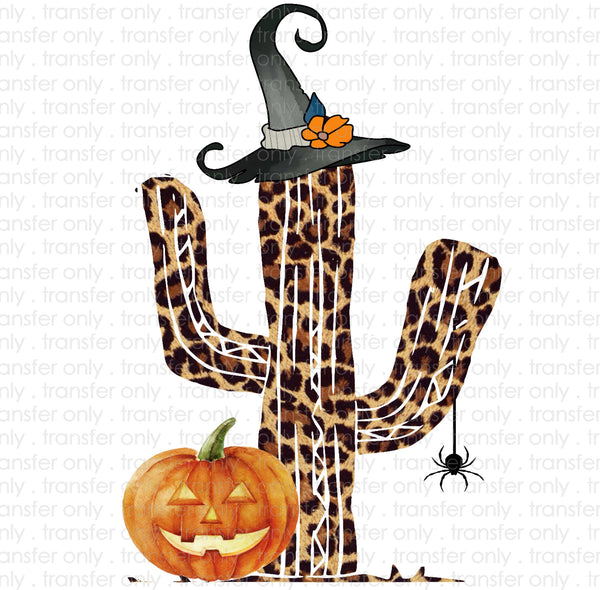Halloween Leopard Cactus Sublimation Transfer